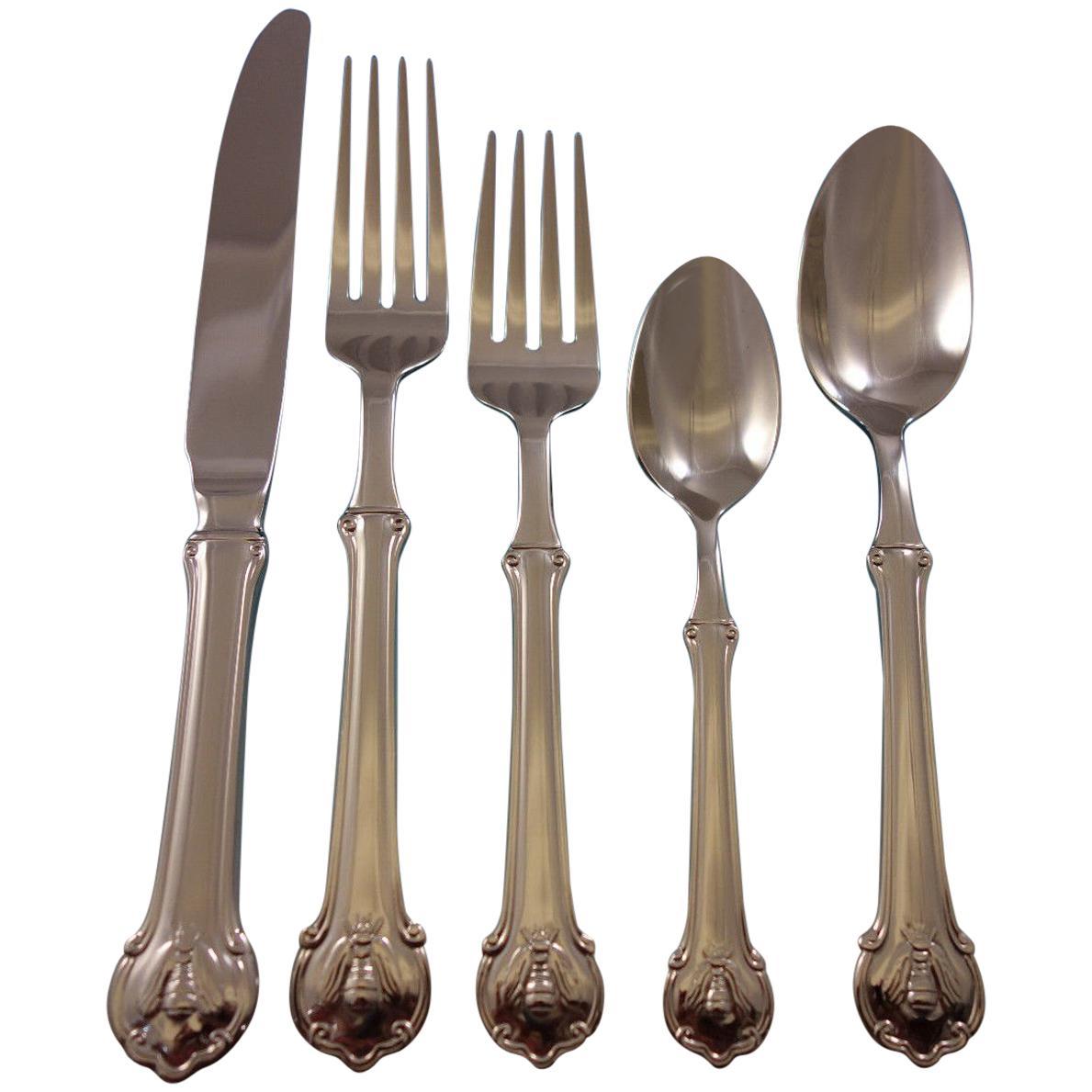 Wallace Napoleon Bee 18//10 Stainless Steel 6 3//8 Teaspoon Set of Twelve