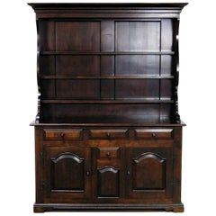 Wallace Nutting Colonial Pewter Welsh or Jelly Cupboard Cabinet