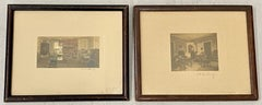 Early 20th C. Hand Tinted Interior Scene Photographs by Wallace Nutting c.1910