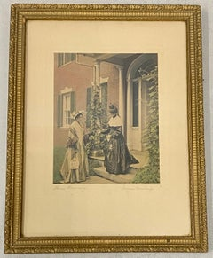 Wallace Nutting Antique Hand Colored Photograph c.1910 Pencil Signed