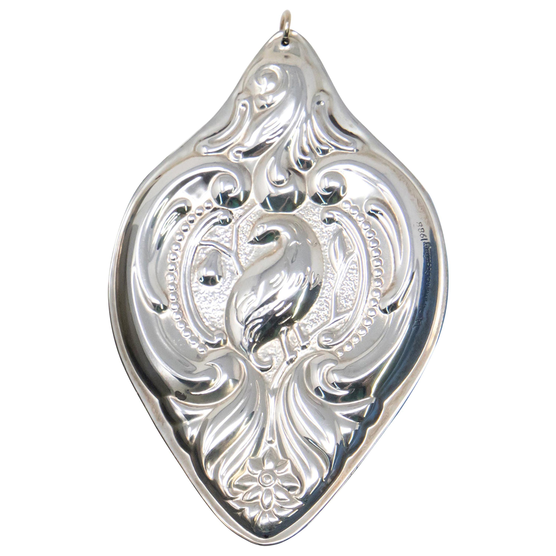 Wallace Sterling Silver Grande Baroque Ornament in Box, 1988