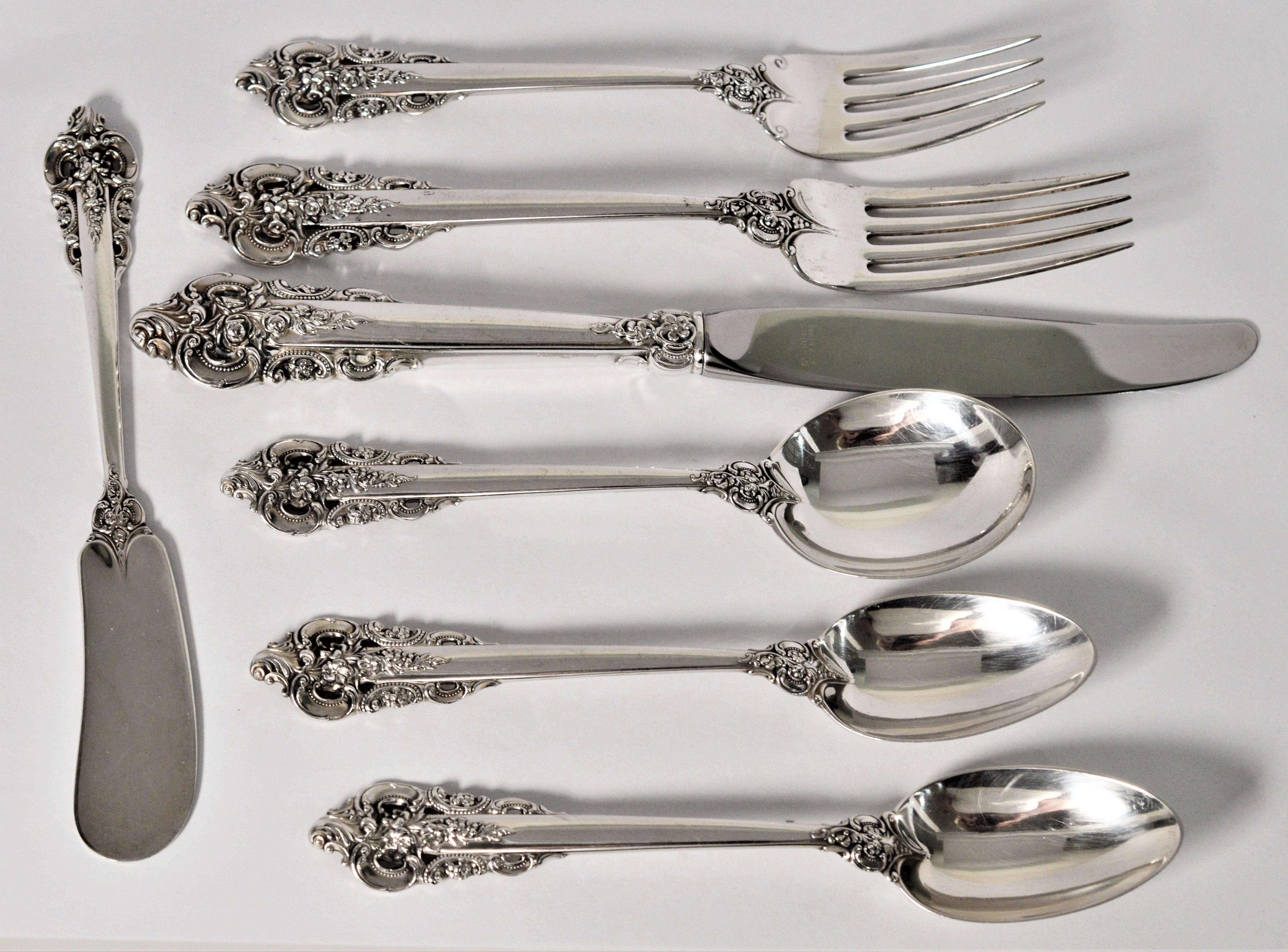 """S GRAND VICTORIAN -7 3//4/"""" WALLACE STERLING PLACE FORK"""