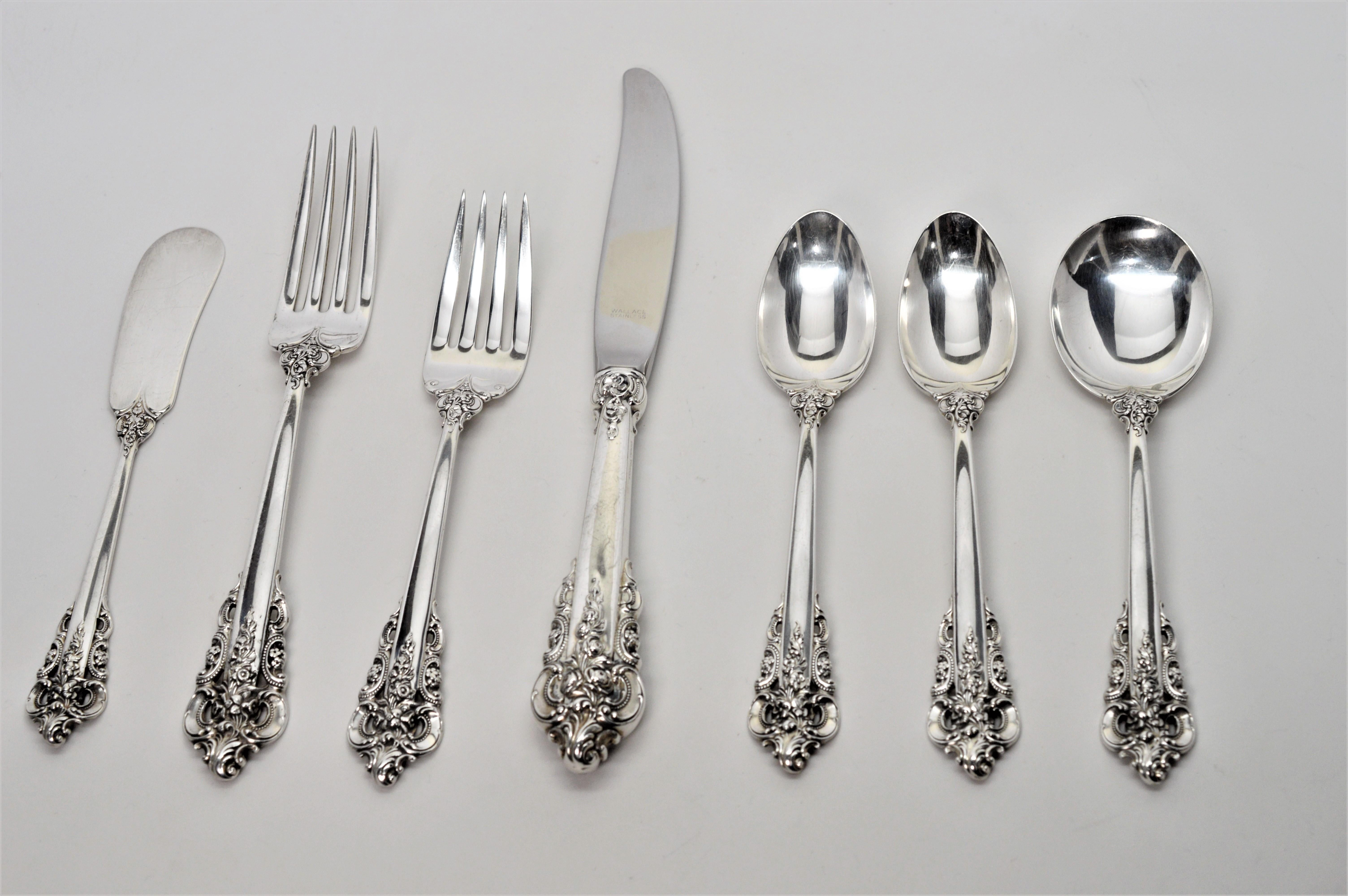 """Grande Baroque by Wallace Sterling Silver Fish Fork All Sterling Custom 7 1//2/"""""""