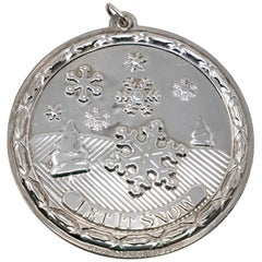 Wallace Sterling Silver Let it Snow Ornament