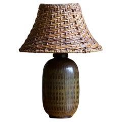 Wallåkra Keramik, Table Lamp, Glazed Stoneware, Sweden, 1960s