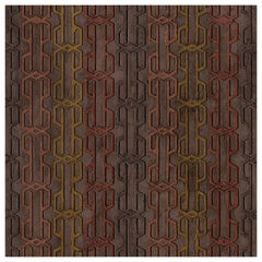 "Wall&decò Contemporary Wallpaper ""Eights"",  Color Variant MOD_WDEI1901 Brown"
