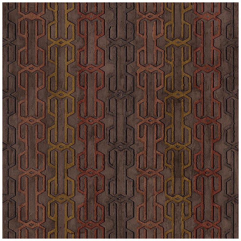 "Wall&decò Contemporary Wallpaper ""Eights"", Color Variant MOD_WDEI1901 Burgundy For Sale"