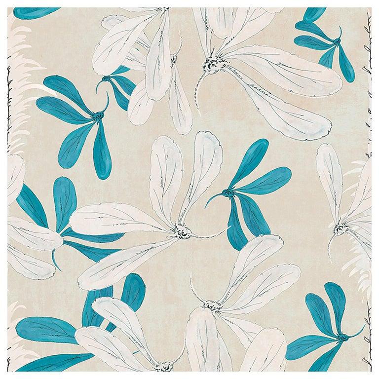 """Wall&Decò Contemporary Wallpaper """"Fleur Des Ameriques"""", Color Variant For Sale"""