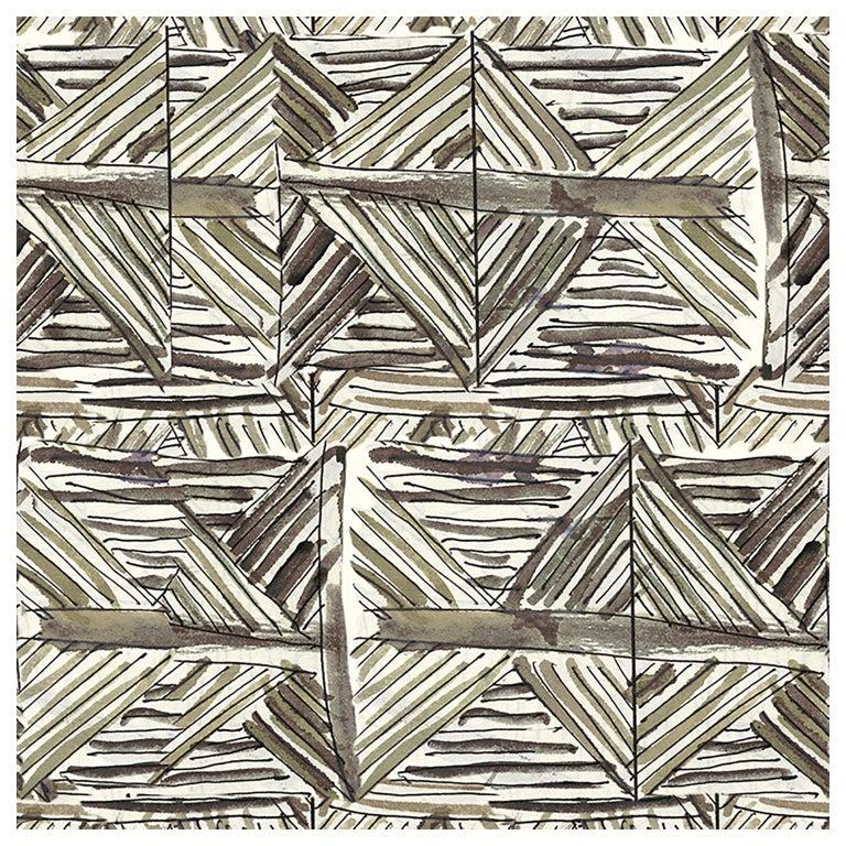 "Wall&decò Contemporary Wallpaper ""Imaginarium"", Color Variant MOD_WDIM1701 Green For Sale"