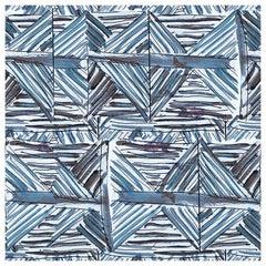 "Wall&decò Contemporary Wallpaper ""Imaginarium"", Color Variant MOD_WDIM1702 Blue"