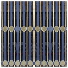 """Wall&decò Contemporary Wallpaper """"Ornate"""", Color Variant MOD_WDOR1801 Blue"""