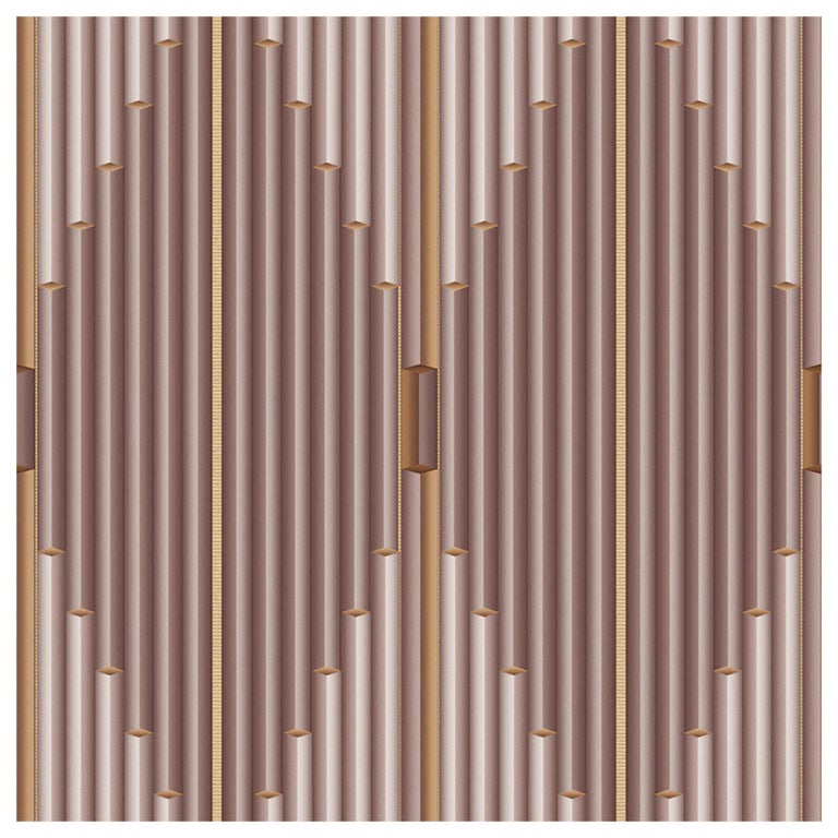 """Wall&decò Contemporary Wallpaper """"Pajlo"""", Color Variant MOD_WDPA1801 Pink For Sale"""