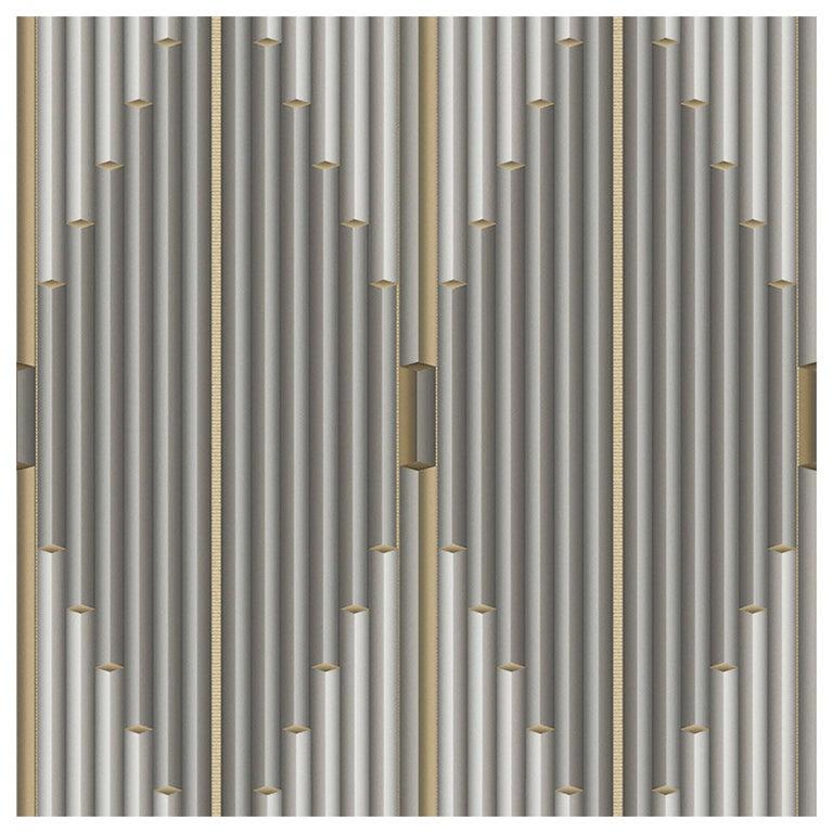 "Wall&decò Contemporary Wallpaper ""Pajlo"", Color Variant MOD_WDPA1802 Grey For Sale"