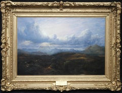 Stirling from the East - Scottish Victorian art panoramic landscape oil painting