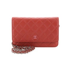 Wallet on Chain Quilted Lambskin