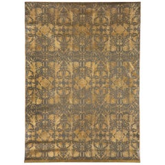 Wallhanging, 2003 Recreating a 1850s Design by Jacques Dulud, Leather Embossed