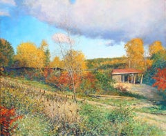 """""""The Old Sawmill at Westminster, Vermont"""", by Wally Ames"""