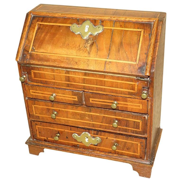 Walnut 18th Century Georgian Miniature Bureau