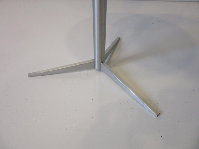 20th Century Walnut / Aluminum Cigarette, Drink Side Table by Thonet For Sale