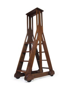 Walnut American Studio Craft Library Ladder