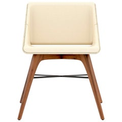Walnut and Ash Contemporary Chair by Alexandre Caldas
