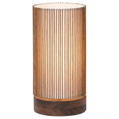 Walnut and Birch Bedside Table Lamp by Mel Smilow