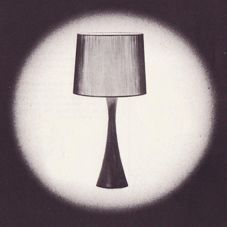 Contemporary Walnut and Birch Hourglass Table Lamp by Mel Smilow For Sale