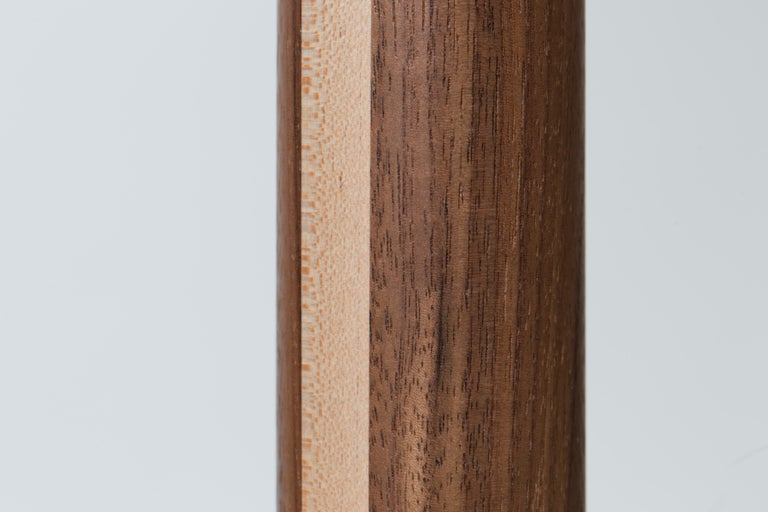Inlay Walnut and Birch Standing Floor Lamp by Mel Smilow For Sale