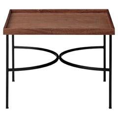 Walnut and Black Contemporary Tray Table