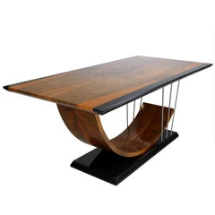 Walnut and Black Mud Oak Dining Table, New 2018