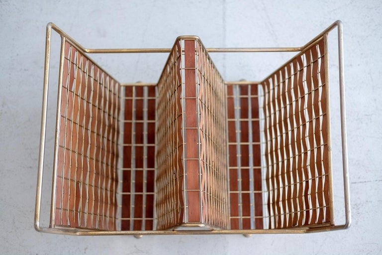 Walnut and Brass Accessories by Tony Paul For Sale 6