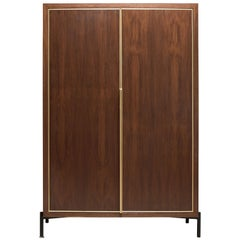 Walnut and Brass Balboa Cabinet by Lawson-Fenning