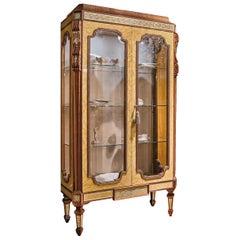 Walnut and Briar Display Cabinet
