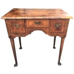 Walnut and Burl Walnut Queen Anne Lowboy or Dressing Table