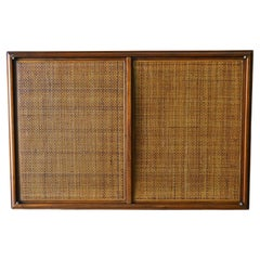 Walnut and Cane Floating Cabinet, ca. 1955