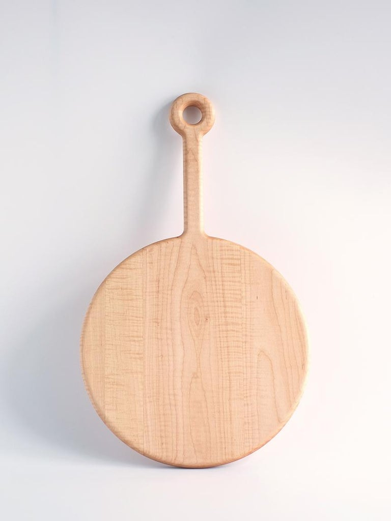 Contemporary Walnut and Curly Maple Plank Cutting Boards by Fort Standard, in Stock For Sale