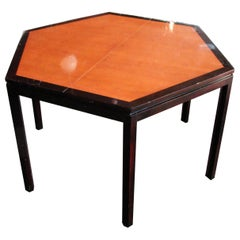 Walnut and Ebonized Mahogany Hex Dining Table by Edward Wormley for Dunbar