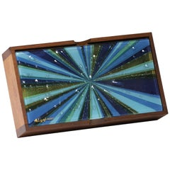 Walnut and Glass Box by Higgins