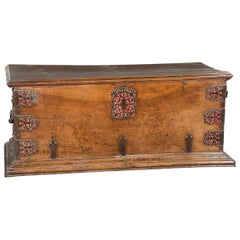 Walnut and Iron Chest, 17th Century