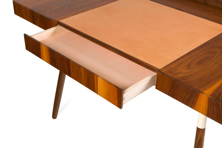 Walnut and Leather
