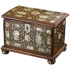Walnut and Mother of Pearl Casket, circa 1670-1680