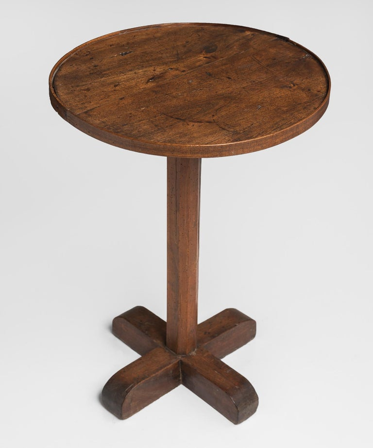 Walnut and Oak Primitive Side Table, France, circa 1860 3