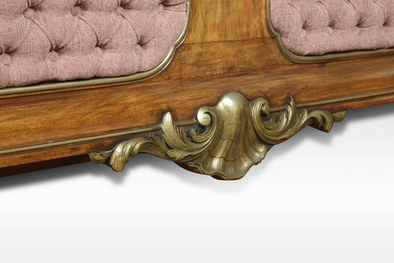 Walnut and Parcel-Gilt King-Size Bed For Sale 1