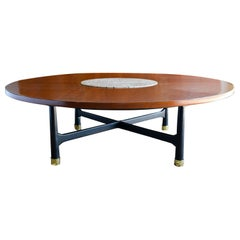 Walnut and Terrazzo Coffee Table by Harvey Probber, circa 1960