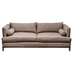 Walnut and Tweed Franklin Sofa by Lawson-Fenning