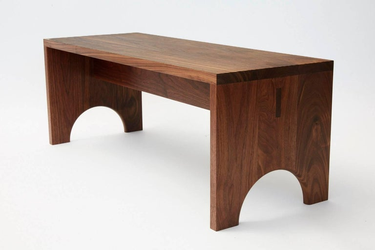 Walnut Arc Bench In New Condition For Sale In Brooklyn, NY