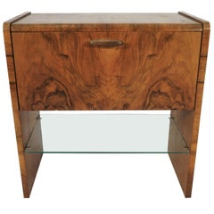 Walnut Art Deco Cabinet, 1960s
