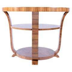 Walnut Art Deco Coffee Table