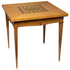 Walnut Art Deco Period Game Table by Jules Leleu