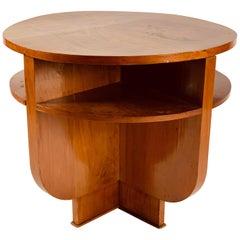 Walnut Art Deco Side Table